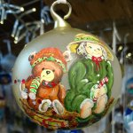 Bauble Kid with bear Merano